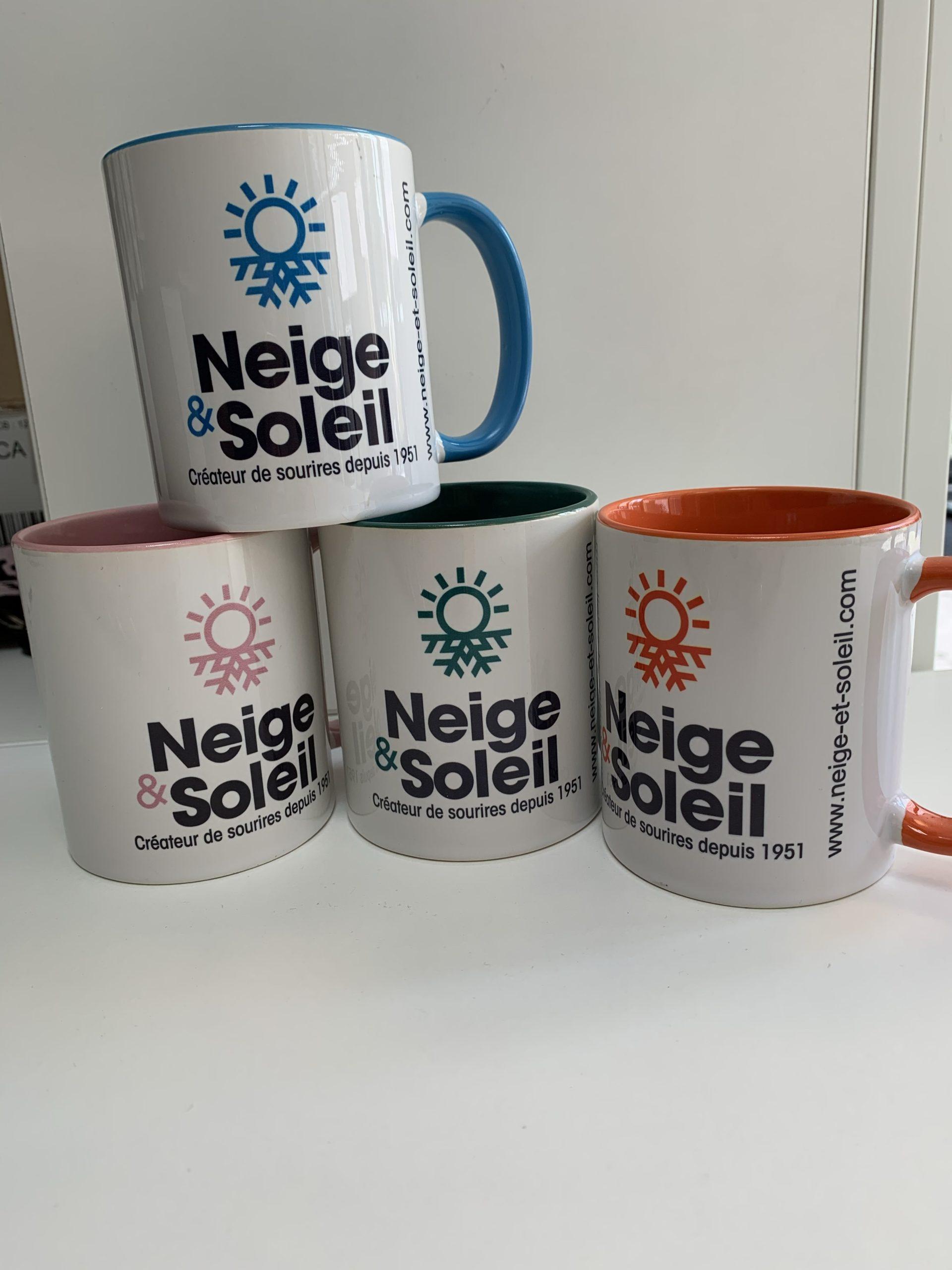 Mug Neige et Soleil (Gros logo)